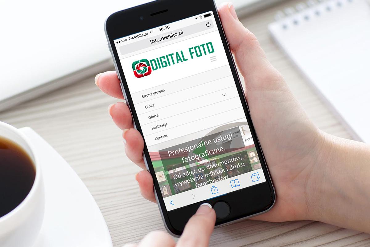 projekt strony mobilnej dla firmy z Bielska-Białej